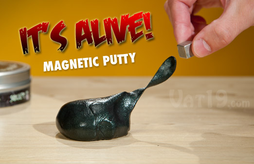 Magnetic Thinking Putty can be charmed like a snake with the included magnet.