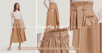 This cotton-blend skirt has a paper bag waist which adds usefulness to the ventilated long silhouette. Keep the details prominent by combining yours with a simple white top.  – High Waist – 63% Cotton 34% Nylon 3% Spandex
