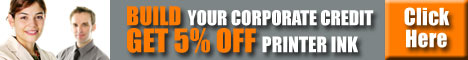 Build Your Corporate Credit and Get 5% Off Printer Ink