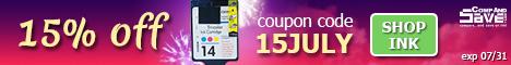 Take 15% off any order at CompAndSave.com using coupon code <b>15JULY</b>