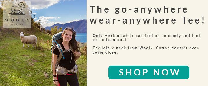 The Woolx Merino V-Neck tee