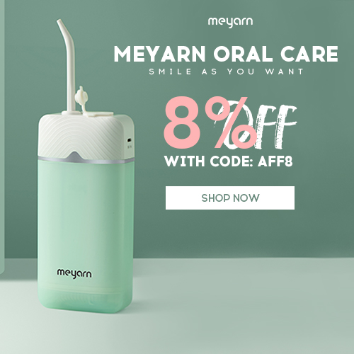 Smile as you want! Oral Care Products & Accessories 8% Off Sitewide on Meyarn! Code: aff8. Shop Now! Sitewide 8% Off with Code aff8! Meyarn Provide You Oral Health, Orthodontics, Teeth Cleaning & Whitening Products!