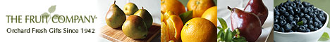 Fruit Company logo with four pictures odf different fruits