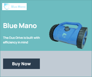 Blue Mano is a pool cleaner that could actually clean corners and move efficiently.