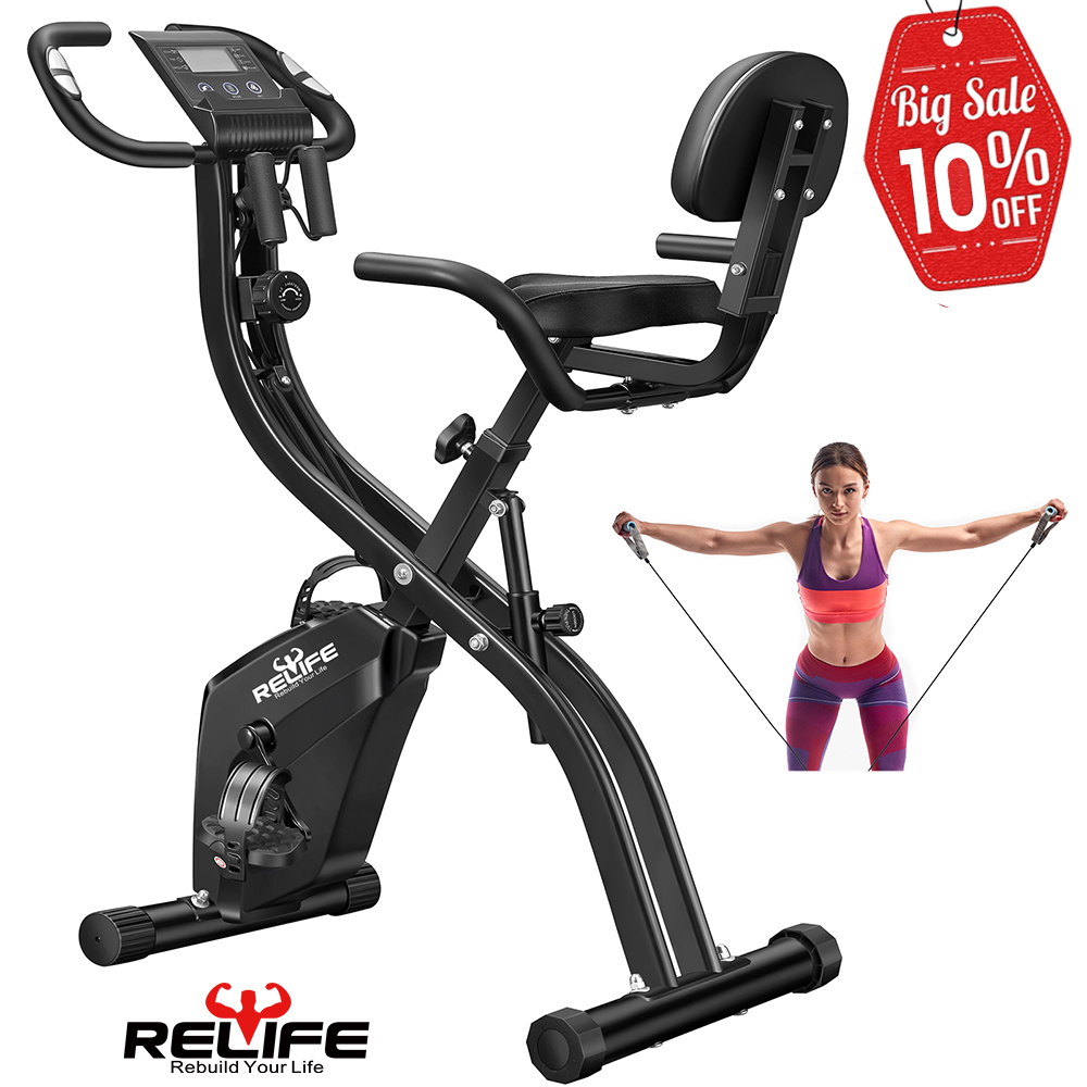 15%OFF RELIFE Stationary Cardio Workout Indoor Cycling Exercise Bike For Home