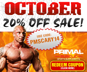 October/Halloween 20% off any order.