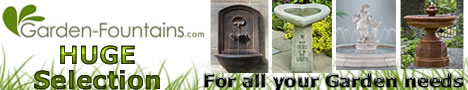 Click Here to Shop a HUGE Selection of Garden Fountains, Statues, Birdbaths, Planters, Accents, Garden Containers and More at Garden-Fountains.com and Support The Garden Oracle with Your Purchases!
