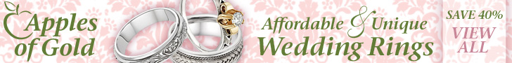Affordable, unique wedding rings from Apples of Gold!