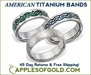 ApplesofGold.com - American Made Titanium Wedding Bands