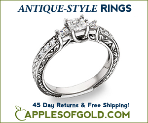 ApplesofGold.com - Antique-Style Engagement Rings