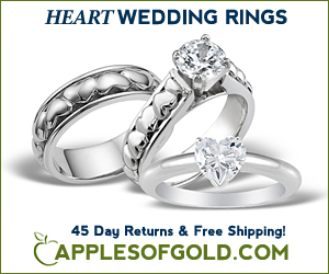 ApplesofGold.com - Heart Wedding Rings