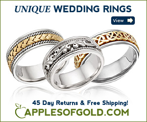ApplesofGold.com - Unique Wedding Rings