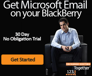 Email on your BlackBerry from 123Together.com