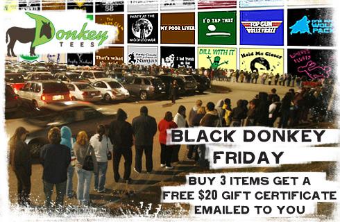 Buy 3 Tees - get a free $20 Gift Certificate