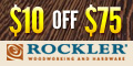 Get $10 off any order over $75 at Rockler.com!