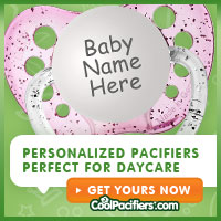 Personalized Pacifiers from CoolPacifiers.com are a great way to distinguish your baby at daycare