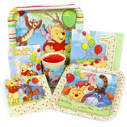 Pooh 1st Birthday Supplies - First Birthday Pooh