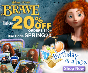 Brave Party Supplies at Birthday in a Box