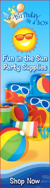 Fun in the Sun Beach Party Supplies at Birthday in a Box