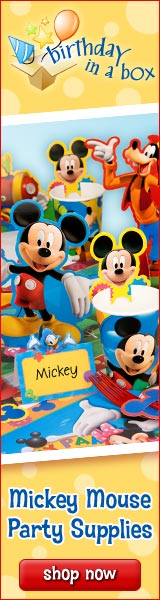 Mickey Mouse Party Supplies at Birthday in a Box