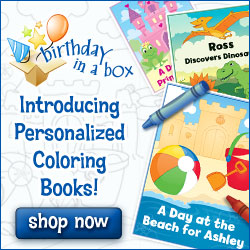 Personalized Coloring Books From Birthday in a Box