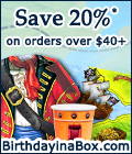 Save 20% on Party Supplies at Birthday in a Box