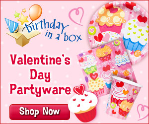 Shop for Valentine Party Supplies at Birthday in a Box