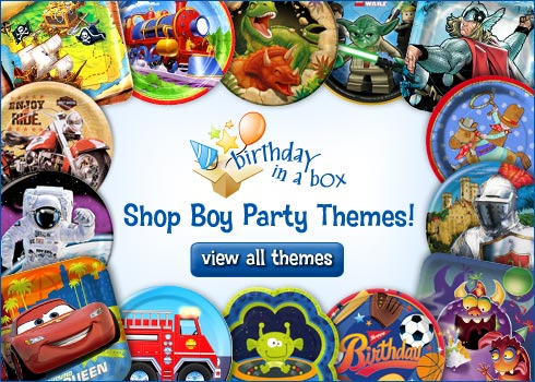Birthday in a Box Boy Party Themes