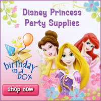 Disney Princess Party Supplies at Birthday in a Box