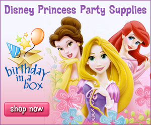 Disney Princess Party Supplies at Birthday in a Box