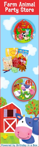 Farm Party Supplies at Birthday in a Box