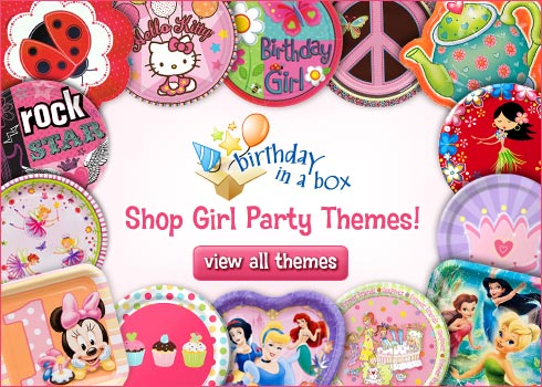 Birthday in a Box Girl Party Theme