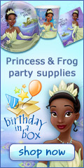 Click for Princess and Frog Party Supply Details!