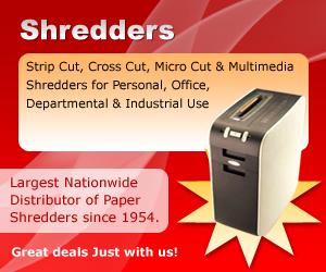 Strip Cut, Cross Cut, Multimedia Shredders on Discount
