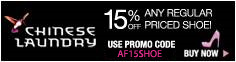 15% Off on Regular Priced Shoe, Use Promo Code CL15REG232. Promo Ends 4/30/2011