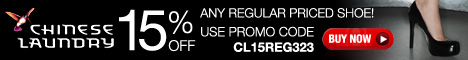 15% Off on Regular Priced Shoe, Use Promo Code CL15REG323.