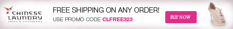 Free Shipping on Any Order, Use Promo Code CLFREE323.