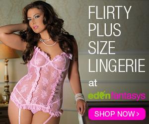 Flirty Plus Size Lingerie at EdenFantasys