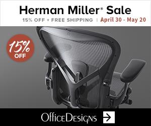 Herman Miller Sale - 15% off plus Free Shipping! (4/30/2020 - 5/12/20)