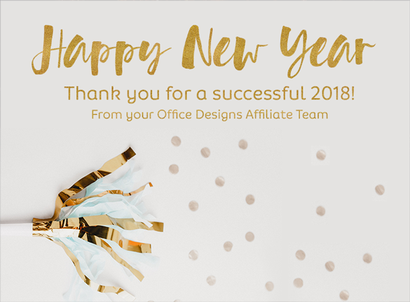 Happy New Year Thank You Graphic