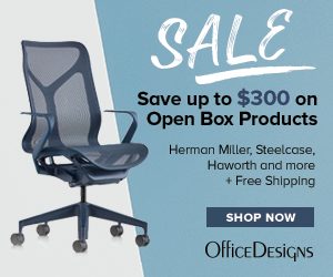 Save up to $300 on Open Box Products from Herman Miller, Steelcase, Haworth and more while supplies last! Plus Free Shipping