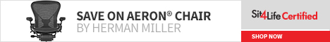 Save up to $250 on the Herman Miller Aeron Chair at Sit4Life Certified