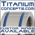 Custom wedding rings from Titanium Concepts