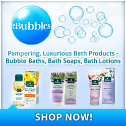 Pampering Bath Products: Bubble Baths, Soaps, Lotions & More
