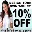 Design your own t-shirt and get 10% off your first order!