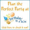 Plan the perfect party at Birthday in a Box. Just click here to check it out!
