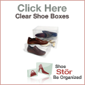ShoeStor Large Clear Shoe Boxes - Be Organized!