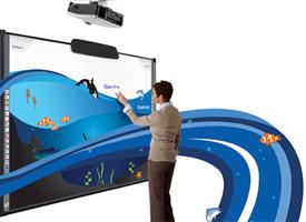 Hitachi FX-TRIO 77 inch whiteboard