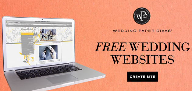 Free Wedding Website from Wedding Paper Divas