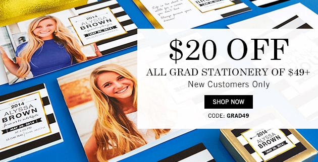 Tiny Prints Graduation Stationery Sale